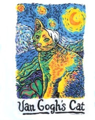 VAN GOGHS CAT SWEATSHIRT