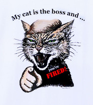 YOURE FIRED CAT T-SHIRT