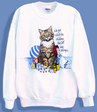 ALLERGIC CAT SWEATSHIRT WHITE
