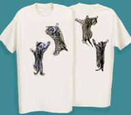 CLINGING KITTEN CAT T-SHIRT NATURAL