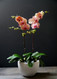 Double Orchid with White Pot and Novelty/Seasonal Shades Orchid Option