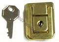 Small Box Lid Latch With Keyed Lock Brass Hidden Hole