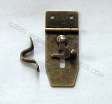 Antique Brass Hasp with Swing Latch