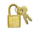 Miniauture Padlock w/keys