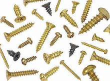 #2 Brass Plated Phillips Round Head Screws