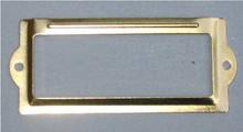 Brass 3 1/2 x 1 1/2 card/label holder