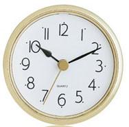 White face 2-1/2 arabic clock insert