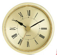 2 1/2 Inch gold face roman clock fit up