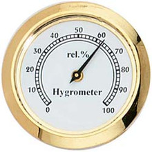 "1 7/16"" (36mm) White Mini Hygrometer Insert/Fit Up"