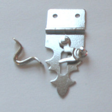 Decorative Hasp with Swing Latch Nickel