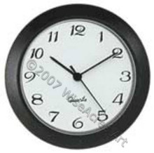 White face arabic Matte Black Bezel 1-7/16 (36mm) Clock Fit-Up Insert
