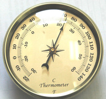 3 1/2 (90mm) Thermometer Gold Insert/Fit Up