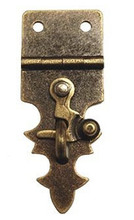 Fancy Antique Brass Hasp with Swing Latch