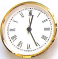 4 Inch White Face Roman Clock Insert/Fit Up