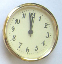 4 Inch Ivory Face Arabic Clock Insert/Fit Up