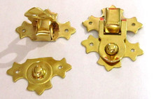 Decorative Flip Box Latch 764 Brass Plate