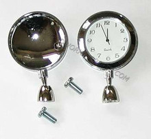 Swivel Base Clock/Photo Holder Nickel