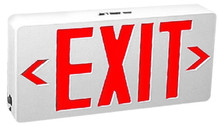 Red LED Exit Sign With Battery Backup - TCP #22743