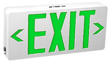 Green LED Exit Sign With Battery Backup - TCP #22745