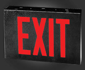 Red LED Sign - Black Housing - With Battery Backup  - TCP #22747