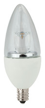 5 Watt LED Chandelier Lamp Clear - Candelabra Base  (40w Equal)