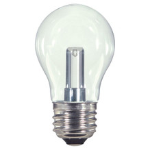 1.4 WATT A15 CLEAR LED LAMP 27K (EQUAL TO 15W) - SATCO #S9150