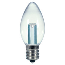 0.5 WATT C7 LED LAMP CLEAR 27K (EQUAL TO 7W) - SATCO #S9156