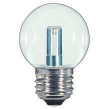 1.4 WATT G16.5 GLOBE LED LAMP CLEAR 27K (EQUAL TO 15W) - SATCO #S9158