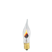 3 Watt Flicker Flame Candelabra Base Bent Tip 15mm