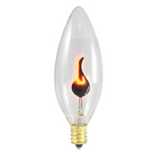 3 Watt Flicker Flame Candelabra Base Straight Tip 32mm