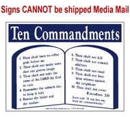 Scripture Sign - The Ten Commandments