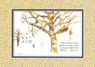 KJV Scripture Blank Greeting Cards - Snow Scene (6-pack)