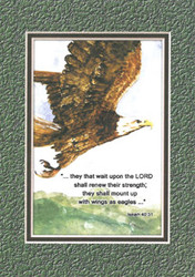 KJV Scripture Encouragement Card - Eagle
