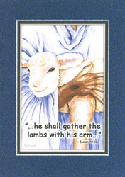 KJV Scripture Encouragement Card - Lamb with Shepherd