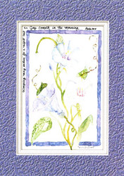 KJV Scripture Sympathy Card - Purple Morning Glories