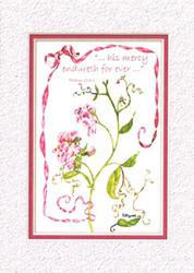 KJV Scripture Sympathy Card - Sweet Pea