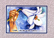 KJV Scripture Blank Greeting Card - Lily of the Valley