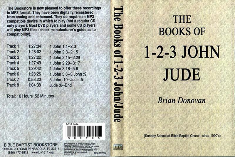 Brian Donovan: 1 John through Jude - MP3 - Bible Baptist Bookstore
