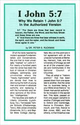 1 John 5:7: Why We Retain In AV - Tract