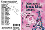 International Sunday School Lessons 2001 - Downloadable MP3