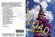 May 2010 Sermons - Downloadable MP3