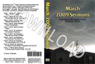 March 2009 Sermons - Downloadable MP3