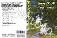 June 2009 Sermons - Downloadable MP3