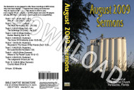 August 2009 Sermons - Downloadable MP3