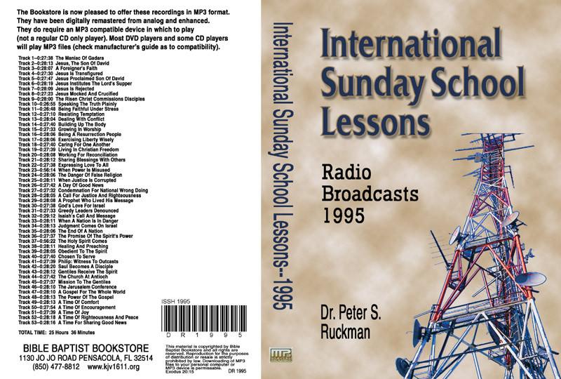 International Sunday School Lessons 1995 - MP3 - Bible Baptist Bookstore