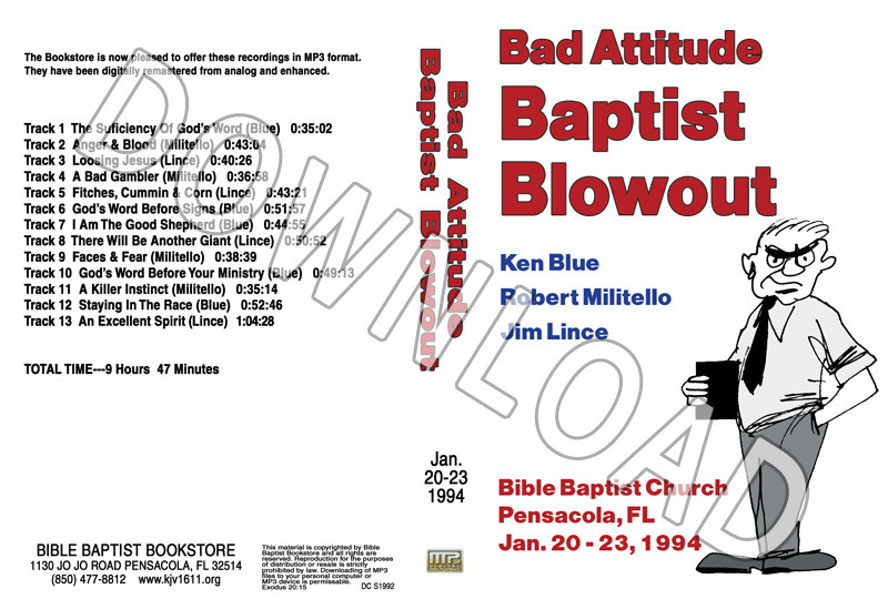 1994 January Blowout Sermons - Downloadable MP3 - Bible Baptist