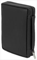 "Genuine Soft Grain Leather - Bible Cover Black (7.75"" x 10"" x 2.5"")"