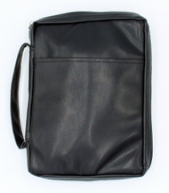 "Imitation Leather - Bible Cover Black (7.5"" x 10"" x 2.25"")"