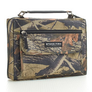 "Stand Firm Camouflage Bible Cover (7"" x 10.195"" x 2"")"