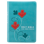 Christian Art Publishers:  Aqua Faux Leather Compact Bible